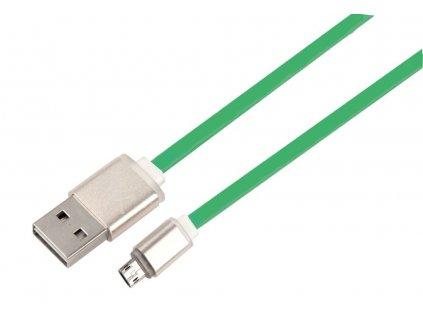 Net-X kabel Micro USB to USB Nabíjení/Synchronizace, oboustranné konektory - zelený