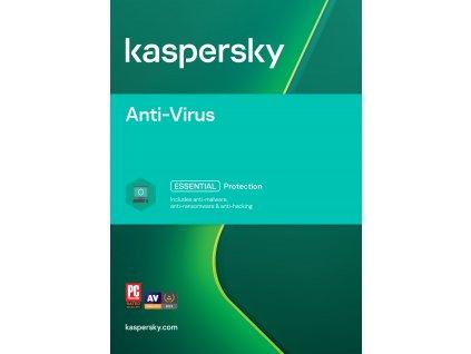 Kaspersky Anti-Virus 3x 2 roky Nová