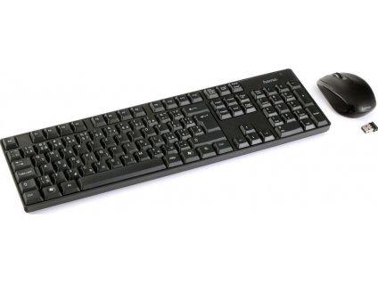HAMA set RF 2200/ bezdrátová klávesnice + myš/ 2,4GHz/ nano USB/ CZ+SK/ černý