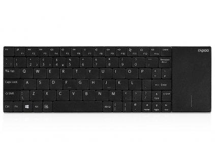 RAPOO bezdrátová klávesnice E2710/ 2,4GHz/ Touchpad/ nízký zdvih/ USB/ černá/ CZ+SK layout