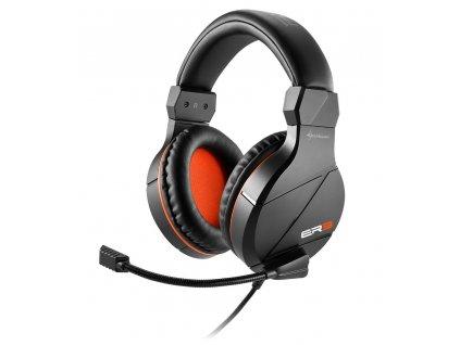 Sharkoon sluchátka RUSH ER3 černé, 2x stereo jack