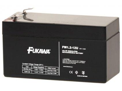 FUKAWA olověná baterie FW 1,2-12 U do APC/ AEG/ EATON/ Powerware/ 12V/ 1,2Ah/ životnost 5 let/ Faston F1-4,7mm