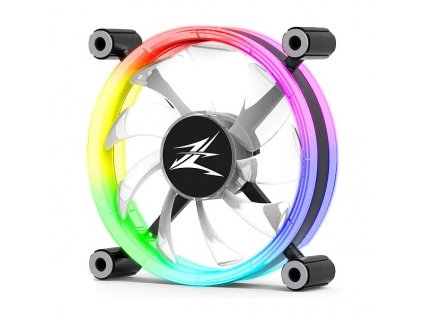 "Zalman ventilátor ZM-LF120 / 120mm / ARGB / EBR / 4-pin / ""ring"" design"