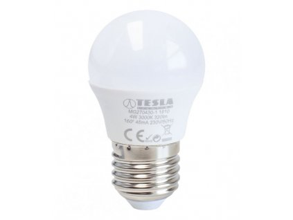 TESLA LED žárovka mini BULB/ E27/ 4W/ 230V/ 320lm/ 3000K/ teplá bílá