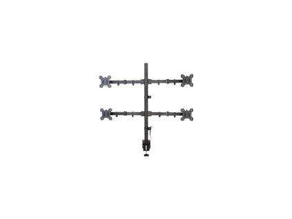 TECHLY 027521 Techly Stolní držák pro 4 LED/TV monitory 13-27 VESA 4x 10kg full motion