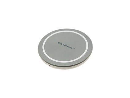QOLTEC 51840 Qoltec Induction Wireless Charger RING Qualcomm QuickCharge 3.0 10W grey
