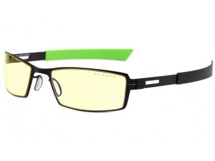 GUNNAR herní brýle RAZER MOBA / obroučky v barvě ONYX / jantarová skla