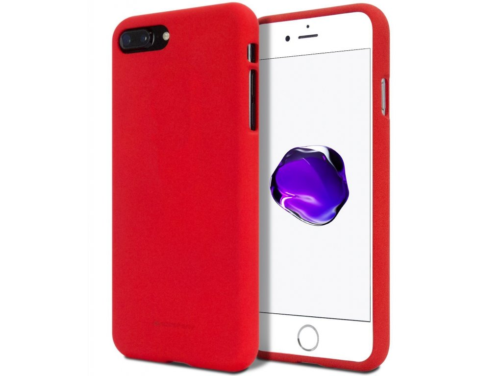 Ochranný kryt pro iPhone 7 PLUS / 8 PLUS - Mercury, Soft Feeling Red