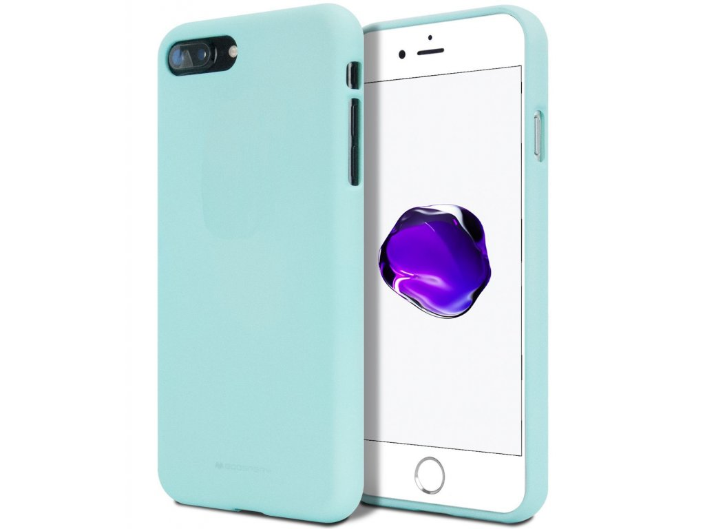 Ochranný kryt pro iPhone 7 PLUS / 8 PLUS - Mercury, Soft Feeling Mint