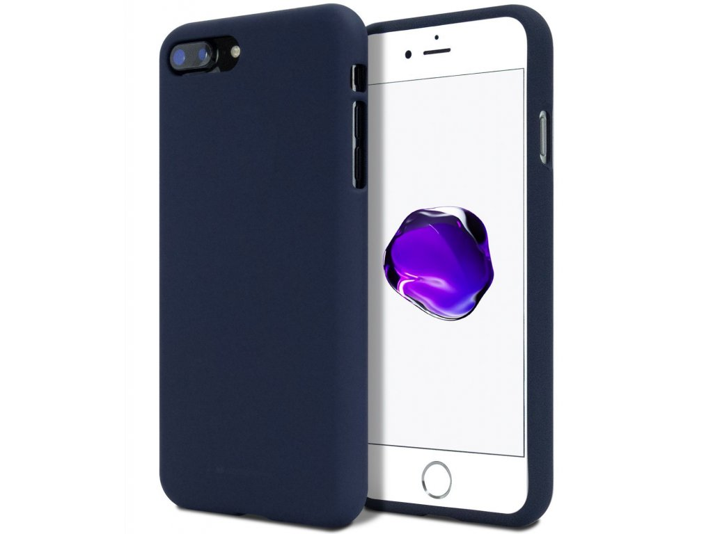 Ochranný kryt pro iPhone 7 PLUS / 8 PLUS - Mercury, Soft Feeling Midnight Blue