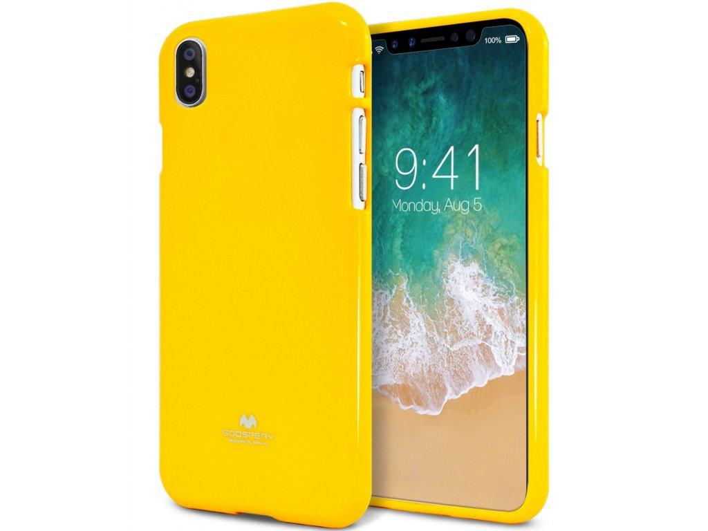 Ochranný kryt pro iPhone XS / X - Mercury, Jelly Case Yellow