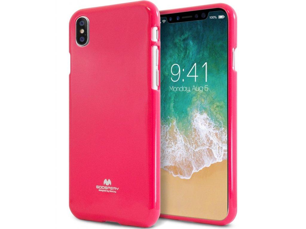 Ochranný kryt pro iPhone XS / X - Mercury, Jelly Case HotPink