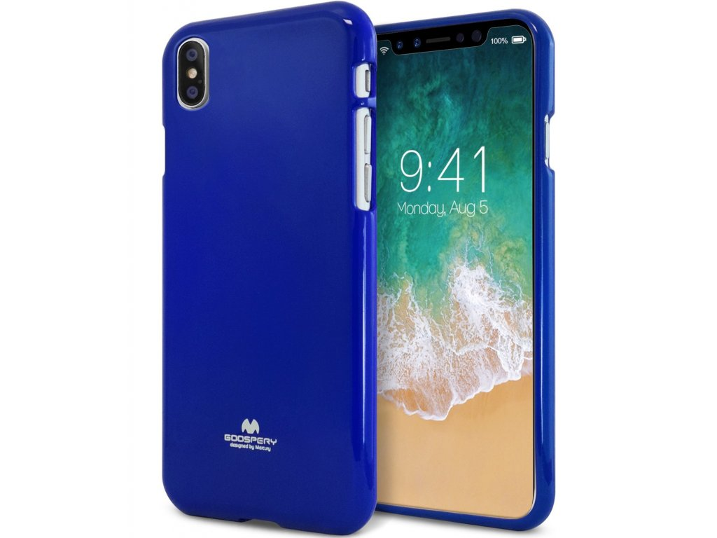 Ochranný kryt pro iPhone XS / X - Mercury, Jelly Case Blue