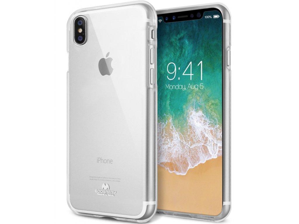 Ochranný kryt pro iPhone XS / X - Mercury, Jelly Transparent