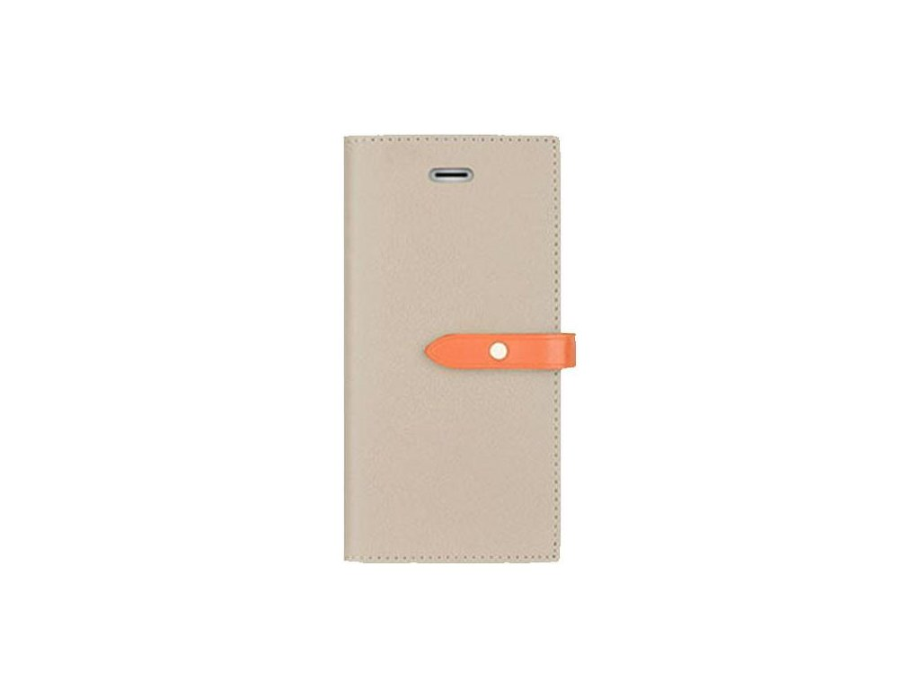 Pouzdro / kryt pro iPhone 5 / 5S / SE - Mercury, Romance Diary GREY/ORANGE