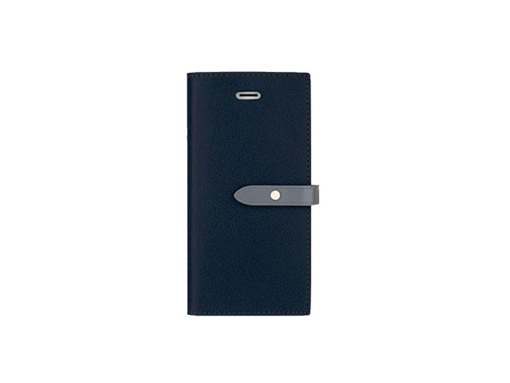 Pouzdro / kryt pro iPhone 5 / 5S / SE - Mercury, Romance Diary NAVY/GREY