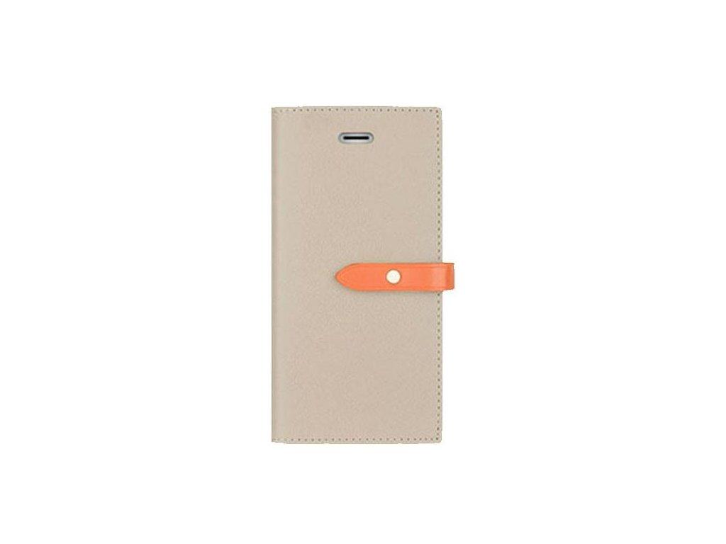 Pouzdro / kryt pro iPhone 6 / 6S - Mercury, Romance Diary GREY/ORANGE