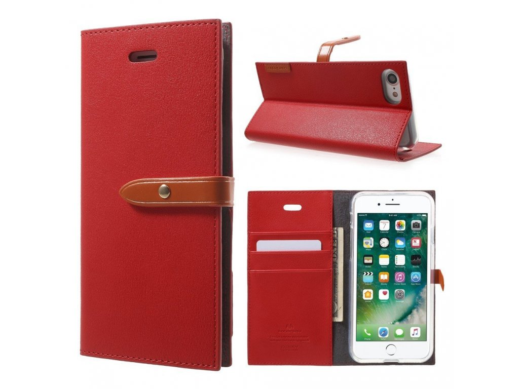 Pouzdro / kryt pro iPhone 7 / 8 - Mercury, Romance Diary RED/ORANGE