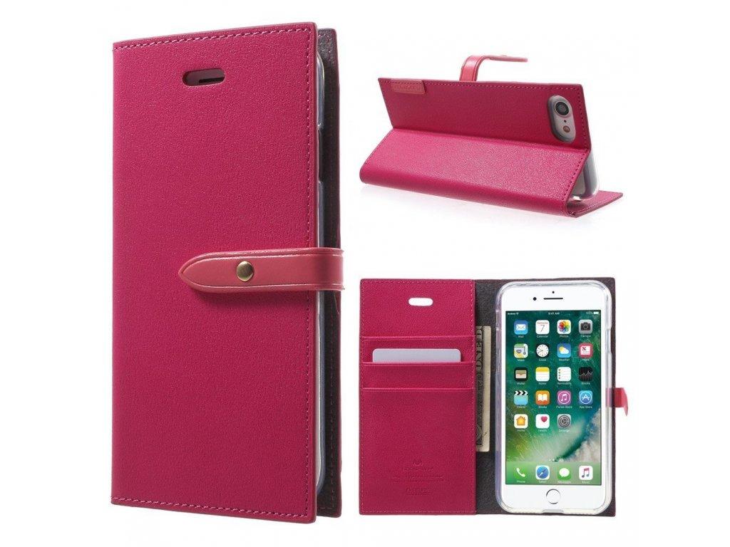 Pouzdro / kryt pro iPhone 7 / 8 / SE (2020) - Mercury, Romance Diary HOTPINK/PINK
