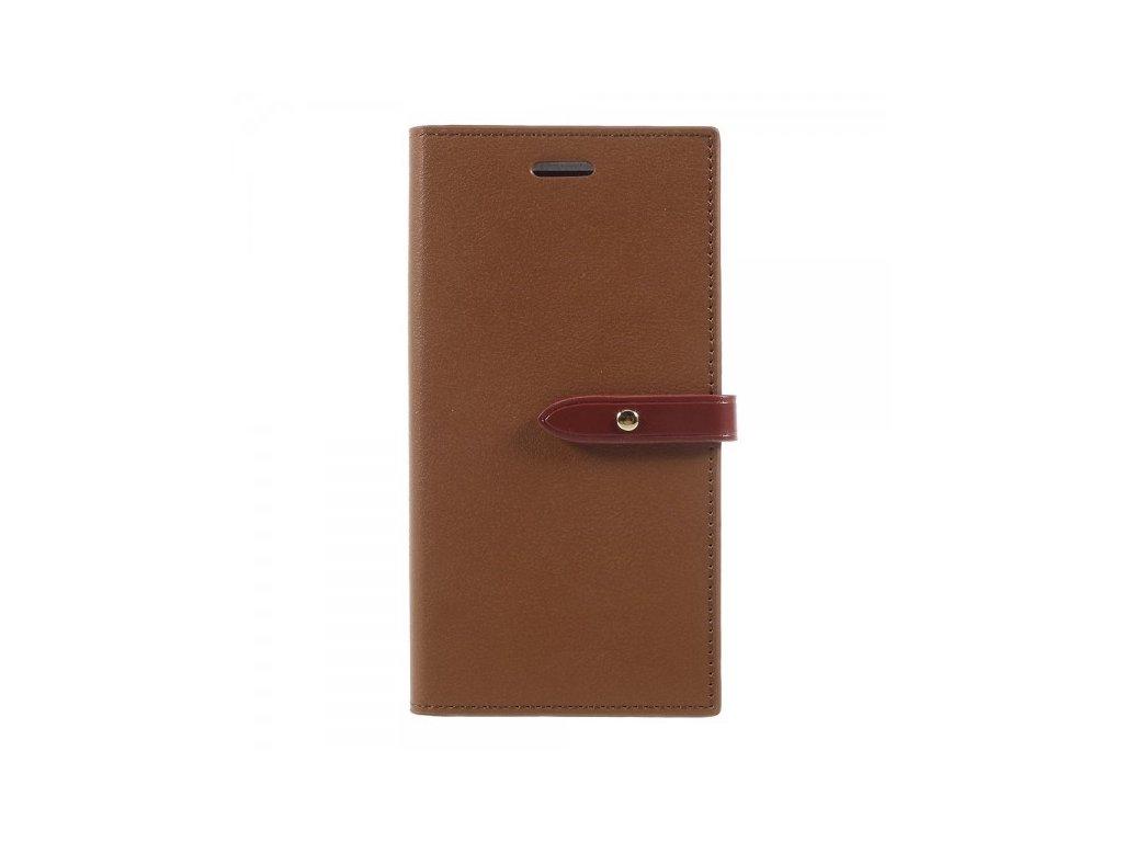 Pouzdro / kryt pro iPhone XS / X - Mercury, Romance Diary BROWN/WINE