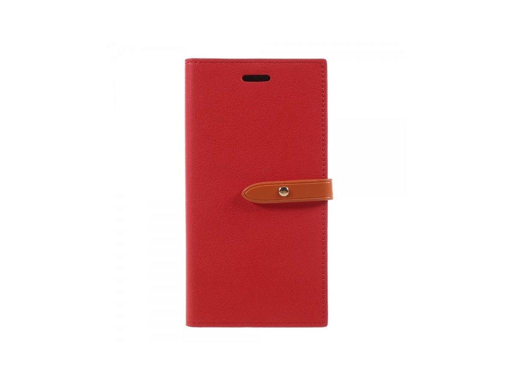 Pouzdro / kryt pro iPhone XS / X - Mercury, Romance Diary RED/ORANGE