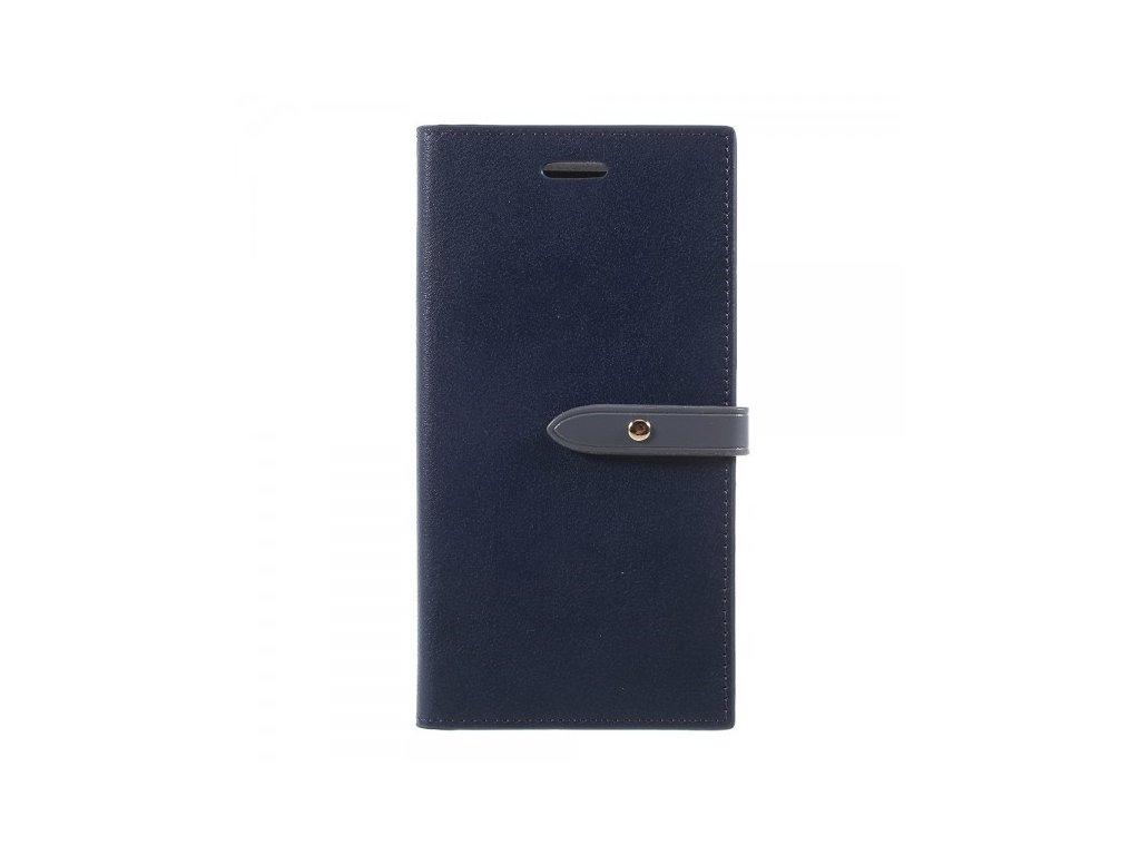 Pouzdro / kryt pro iPhone XS / X - Mercury, Romance Diary NAVY/GREY