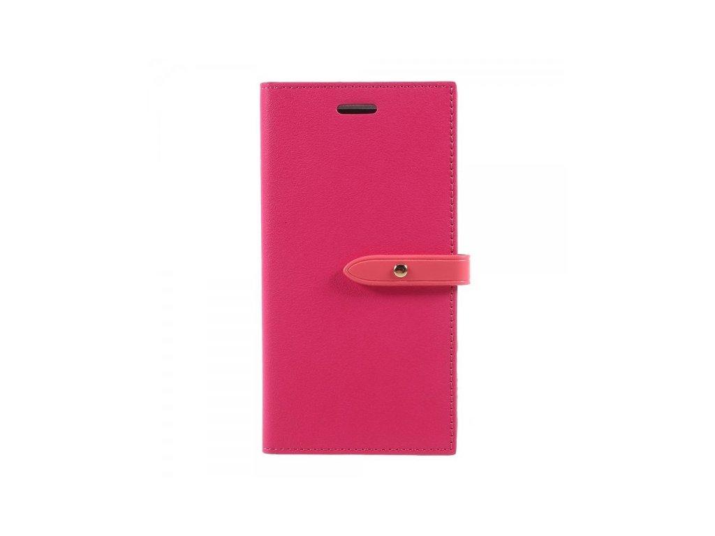 Pouzdro / kryt pro iPhone XS / X - Mercury, Romance Diary HOTPINK/PINK