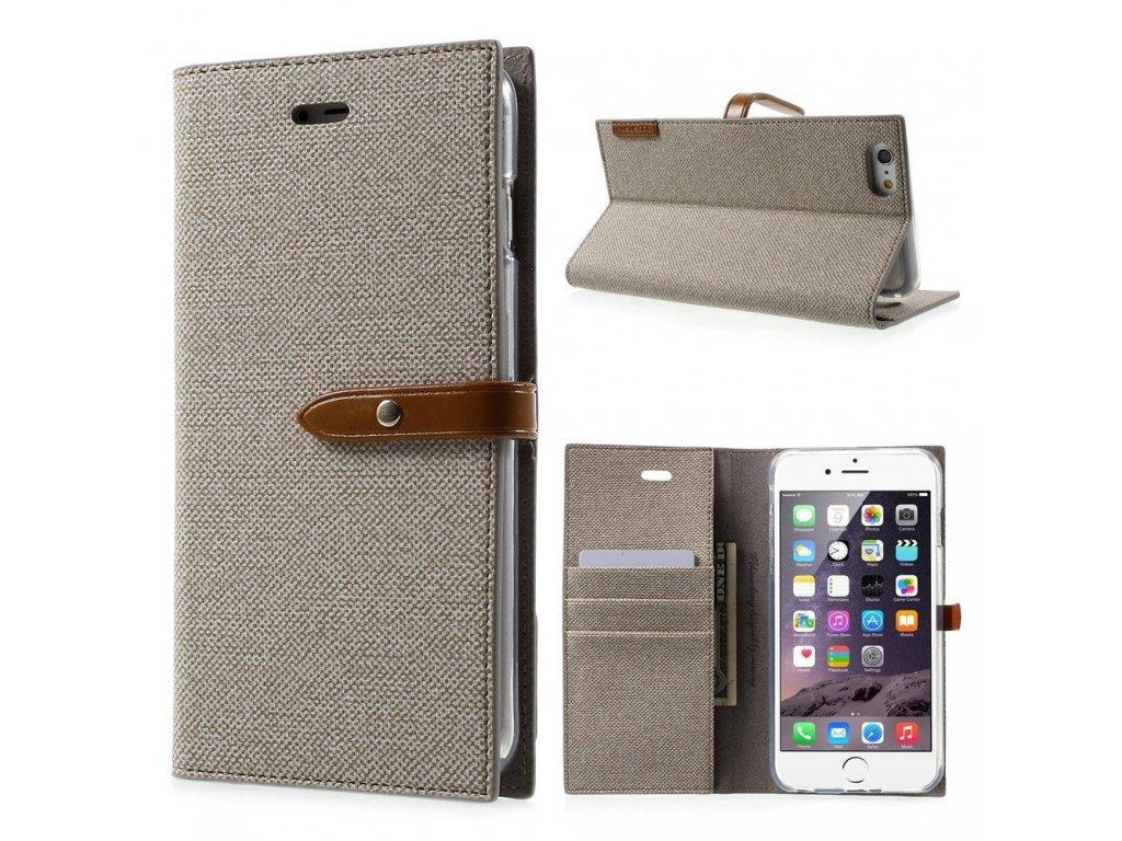 Pouzdro / kryt pro iPhone 6 / 6S - Mercury, Milano Diary BEIGE/BROWN