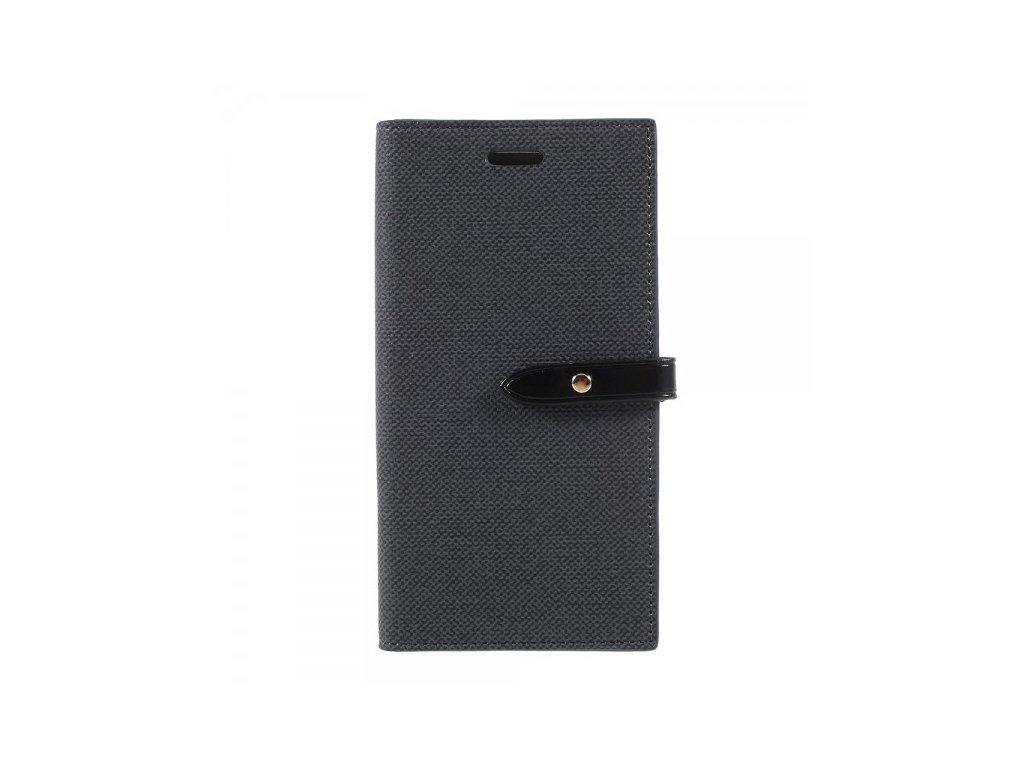 Pouzdro / kryt pro iPhone XS / X - Mercury, Milano Diary BLACK/BLACK