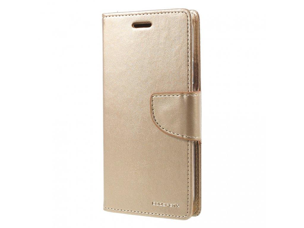 Pouzdro / kryt pro iPhone XS / X - Mercury, Bravo Diary GOLD