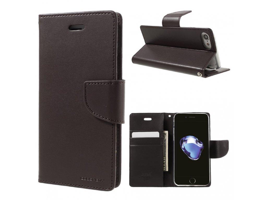 Pouzdro / kryt pro iPhone 7 / 8 / SE (2020) - Mercury, Bravo Diary BROWN