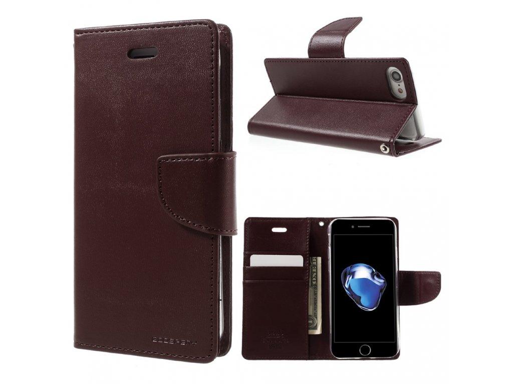 Pouzdro / kryt pro iPhone 7 / 8 / SE (2020) - Mercury, Bravo Diary WINE