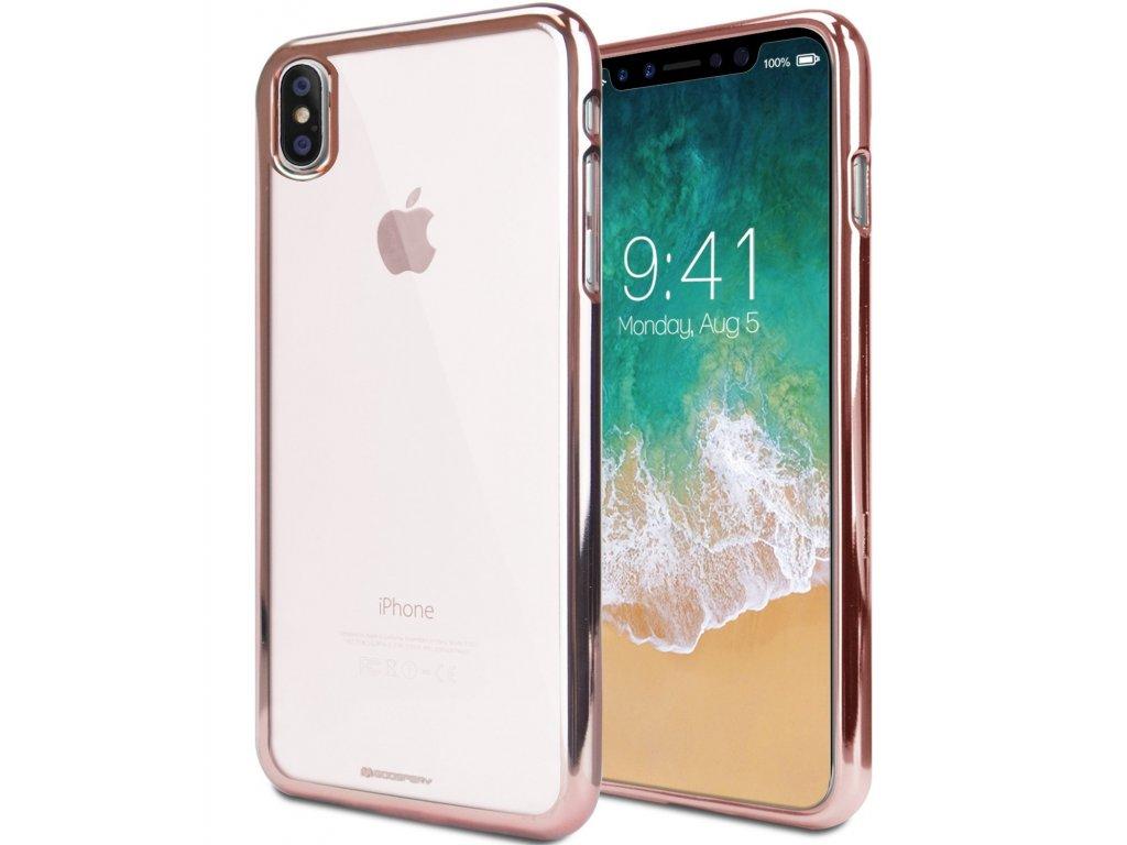 Ochranný kryt pro iPhone XS / X - Mercury, Ring2 RoseGold
