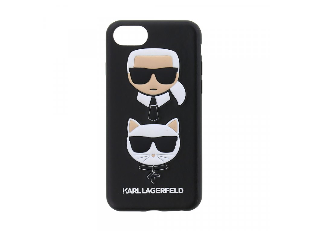 Ochranný kryt pro iPhone 7 / 8 / SE (2020) - Karl Lagerfeld, Choupette Black