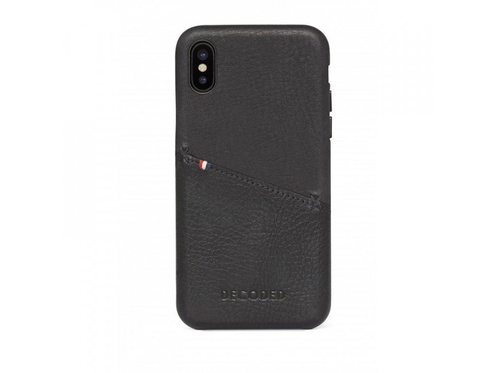 Ochranný kryt pro iPhone XS / X - Decoded, Leather Case Black