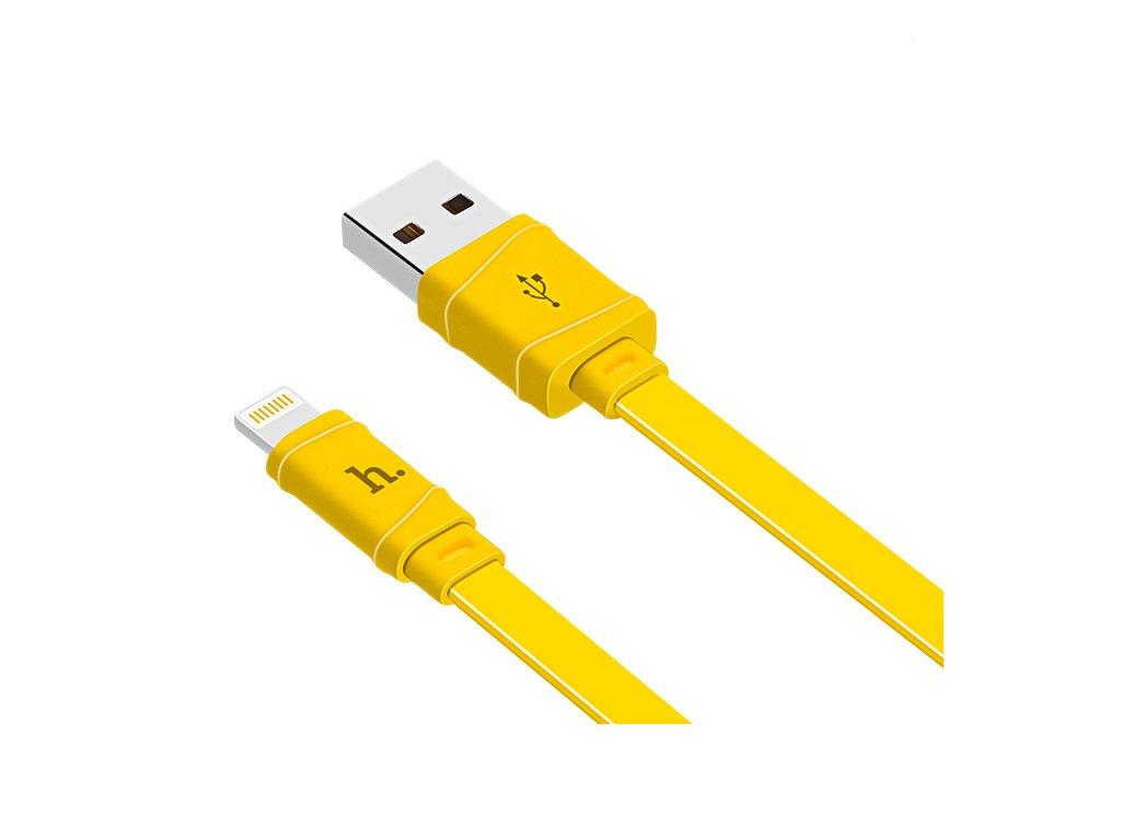 Kabel Lightning pro iPhone a iPad - Hoco, X5 Bamboo Yellow