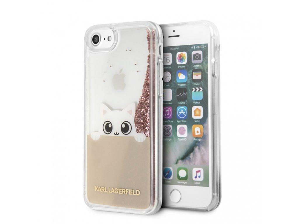 Ochranný kryt pro iPhone 7 / 8 - Karl Lagerfeld, Peek and Boo RoseGold