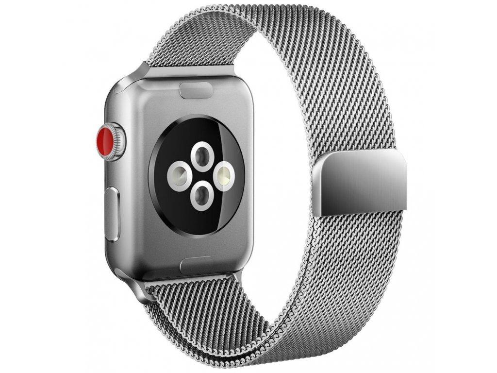 Kovový pásek / řemínek pro Apple Watch 42mm / 44mm - TECH-PROTECT, MILANESEBAND SILVER - ROZBALENO