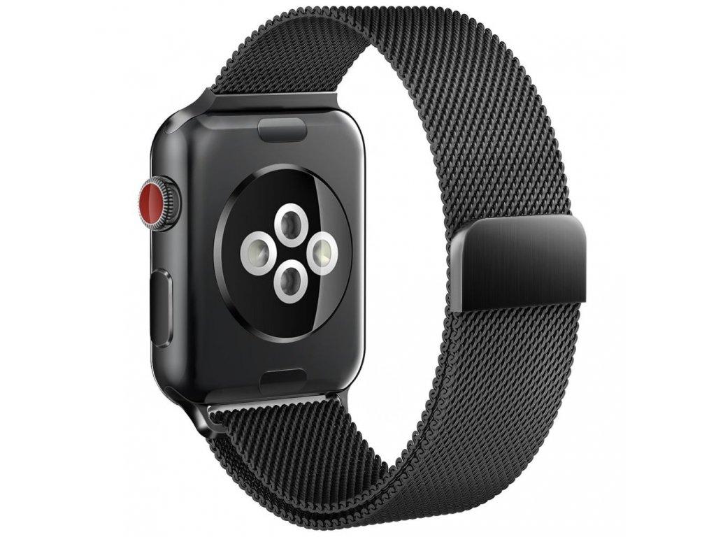 Kovový pásek / řemínek pro Apple Watch 42mm / 44mm - TECH-PROTECT, MILANESEBAND BLACK