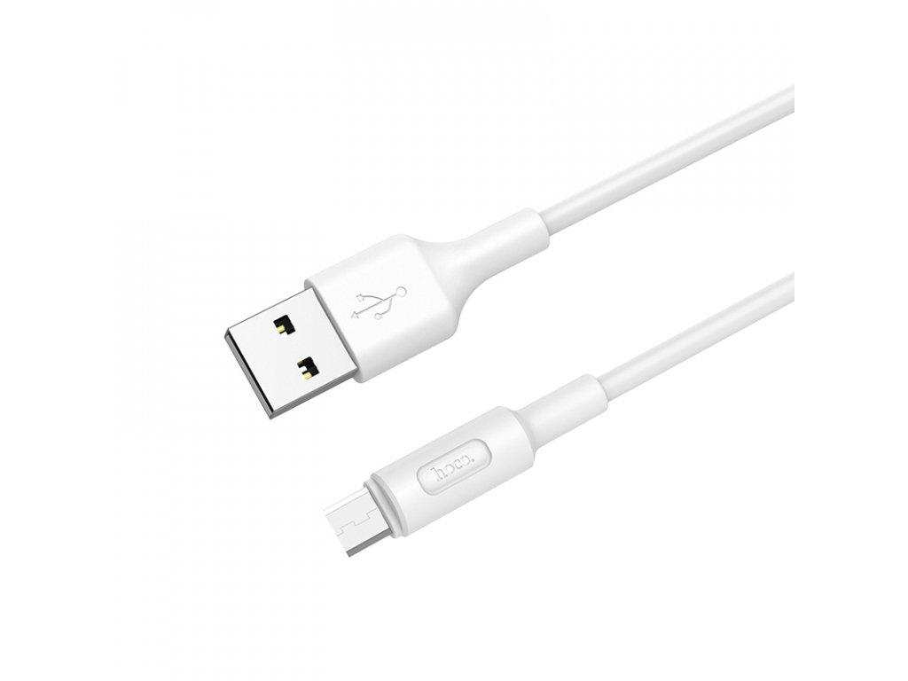 Kabel MICRO-USB - Hoco, X25 Soarer White