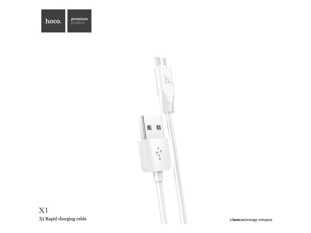 Kabel MICRO-USB - Hoco, X1 White 200cm