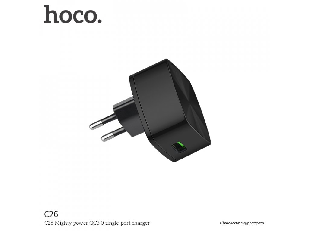 Rychlý nabíjecí AC adaptér pro iPhone a iPad - Hoco, C26 QUALCOMM QUICK CHARGE 3.0