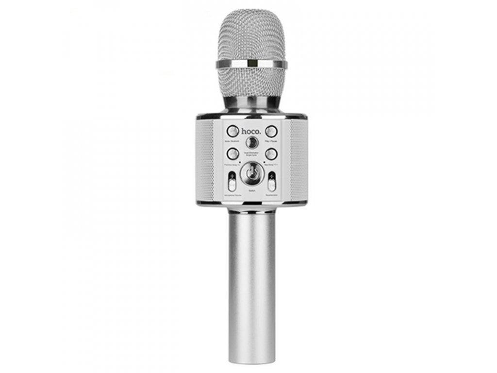Bezdrátový mikrofon - Hoco, BK3 KARAOKE Silver