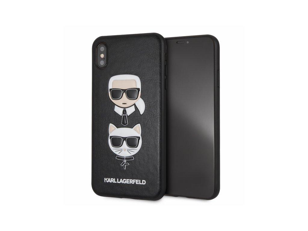 Ochranný kryt pro iPhone XS MAX - Karl Lagerfeld, Choupette Back Black