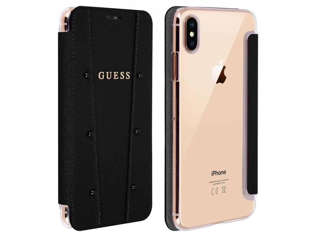 Pouzdro / kryt pro iPhone XS MAX - Guess, Kaia Book Black