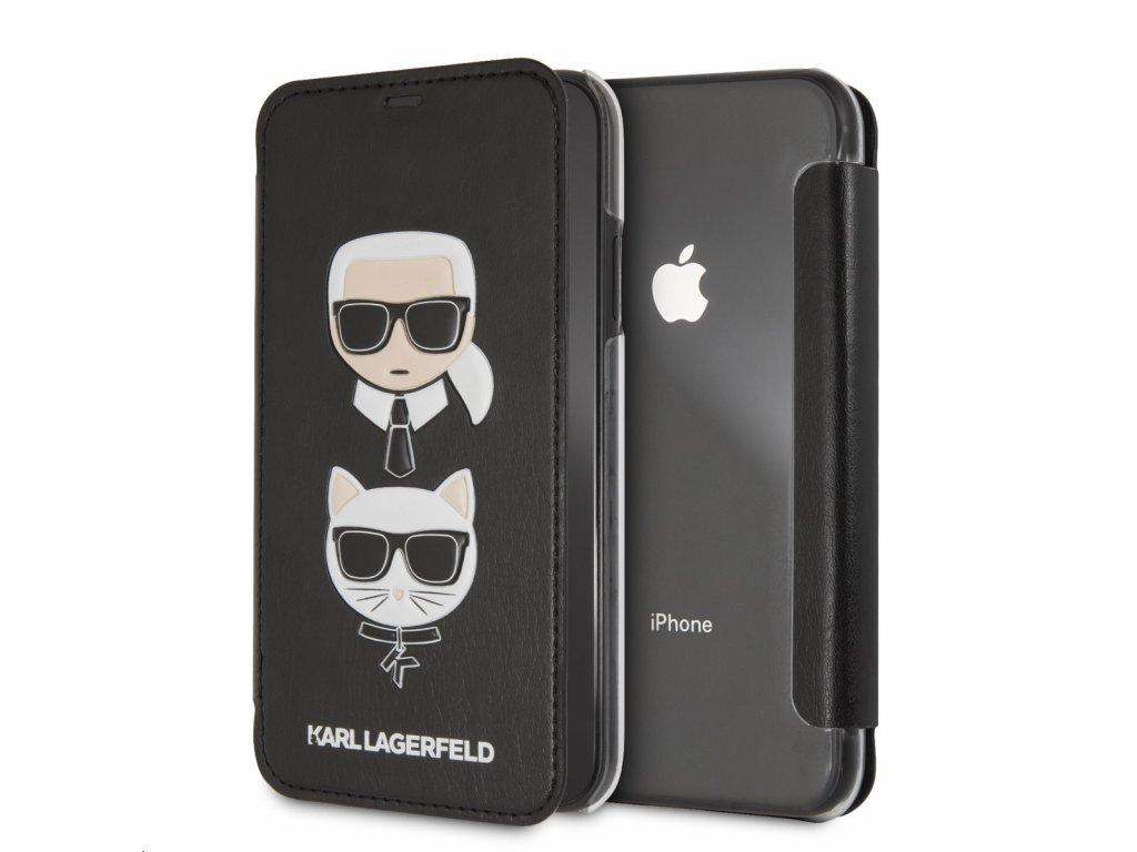 Ochranný kryt / pouzdro pro iPhone XR - Karl Lagerfeld, Choupette Black Book