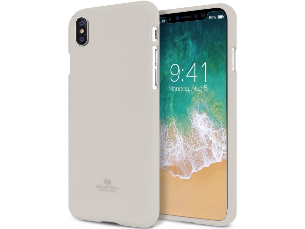 Ochranný kryt pro iPhone XS MAX - Mercury, Soft Feeling Stone