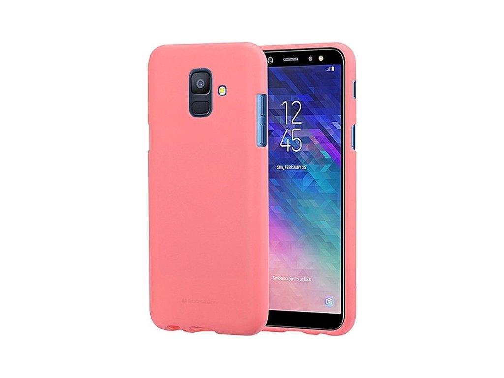 Pouzdro / kryt pro Samsung GALAXY A8 (2018) A530F - Mercury, Soft Feeling Pink