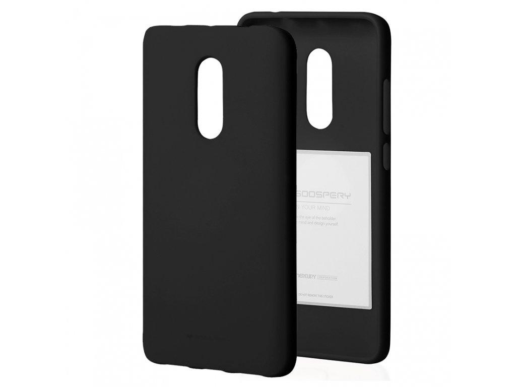 Ochranný kryt pro Xiaomi Redmi 5 PLUS / Note 5 - Mercury, Soft Feeling Black
