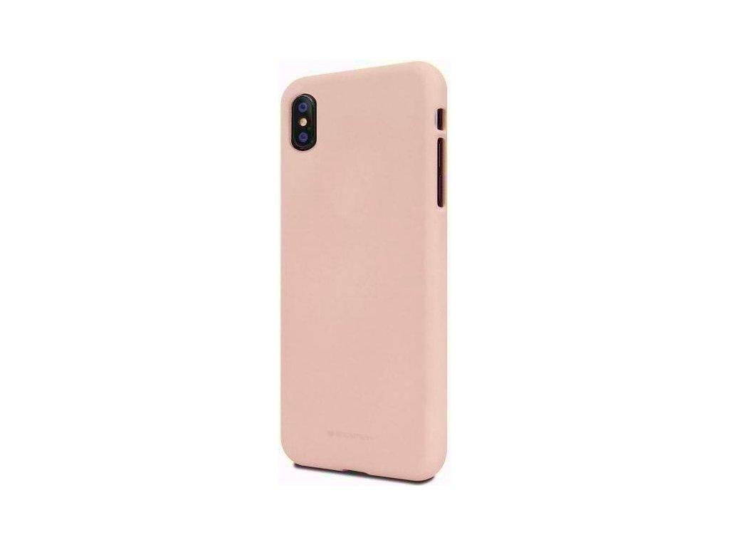 Ochranný kryt pro iPhone XS MAX - Mercury, Soft Feeling Pink Sand